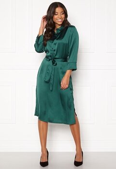 Jacqueline de Yong Fifi 3/4 Below Knee Dress Deep Teal Bubbleroom.dk