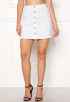 Jacqueline de Yong Five Button Skirt White Bubbleroom.dk