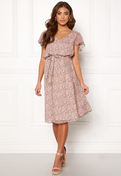 f769245fa3a6 Jacqueline de Yong Jennifer S S Frill Dress Shadow Gray Bubbleroom.dk