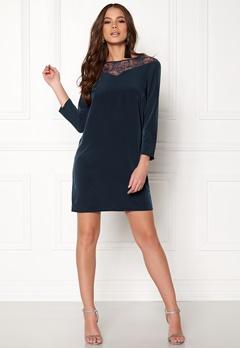 Jacqueline de Yong Kira 7/8 Lace Dress Dress Blues Bubbleroom.dk