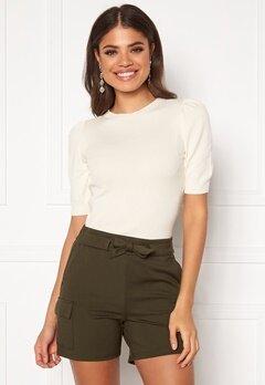 Jacqueline de Yong Lady S/S Pullover Knit Eggnog Bubbleroom.dk