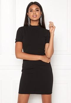 Jacqueline de Yong Lauren S/S Highneck Dress Black Bubbleroom.dk