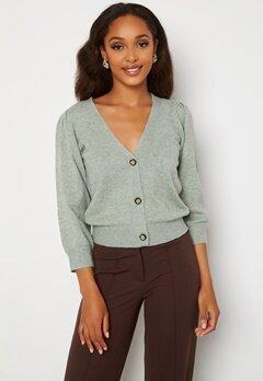 Jacqueline de Yong Maja 3/4 Cardigan Knit Green Milieu Bubbleroom.dk