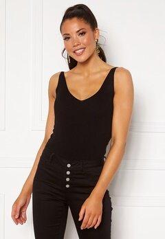 Jacqueline de Yong Nanna S/L Top Knit Black Bubbleroom.dk