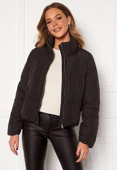 Jacqueline de Yong NewErica Padded Jacket Black Silver zipper Bubbleroom.dk
