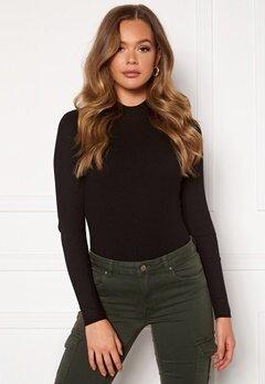 Jacqueline de Yong Newmaryan L/S Highneck Pullover Knit Black Bubbleroom.dk