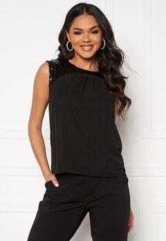 Jacqueline de Yong Otis Upper Sequins Top Black/Sequins Bubbleroom.dk