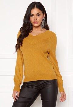 Jacqueline de Yong Shanon L/S Pullover Harvest Gold Bubbleroom.dk