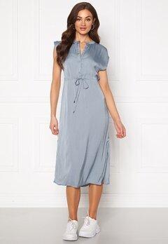 Jacqueline de Yong Sheela S/S Long Dress Faded Denim Bubbleroom.dk