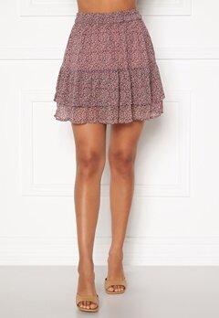 Jacqueline de Yong Sibel Short Skirt Wistful Mauve AOP Bubbleroom.dk