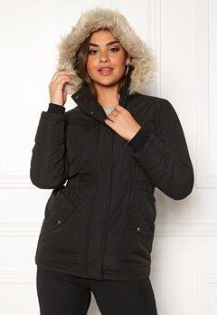 Jacqueline de Yong Star Kia Parka Jacket Black Bubbleroom.dk
