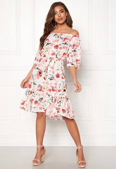 Jacqueline de Yong Star Offshoulder Dress Cloud Dancer Bubbleroom.dk