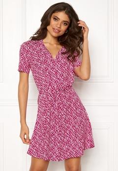 72794f7a Jacqueline de Yong Star S/S Shirt Dress Cerise Bubbleroom.dk