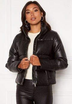 Jacqueline de Yong Trixie Faux Leather Jacket Black Bubbleroom.dk