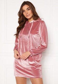 Jacqueline de Yong Velvet Hoodie Dress Mesa Rose Bubbleroom.dk