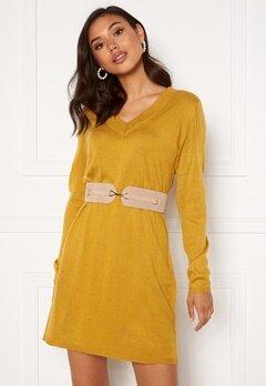 Jacqueline de Yong Zoe L/S Dress Harvest Gold Bubbleroom.dk