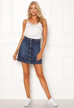 Jacqueline de Yong Sara Jeans Skirt Medium Blue Denim Bubbleroom.dk