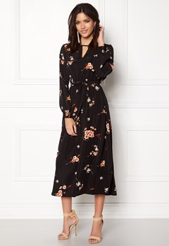 ONLY Japaan Smock Midi Dress Black Bubbleroom.dk