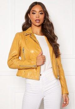 JOFAMA Kajta Leather Jacket Yellow Bubbleroom.dk