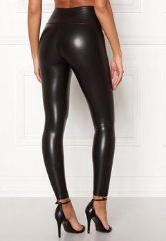 John Zack Faux Leather PU Legging Black Bubbleroom.dk