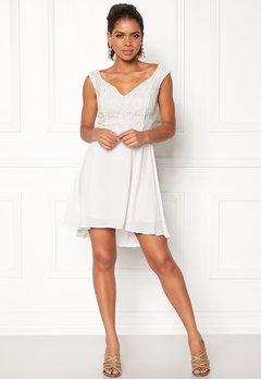 John Zack Lace Bodice H/L Dress White Bubbleroom.dk
