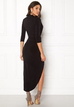 John Zack Long Sleeve Rouch Dress Black Bubbleroom.dk