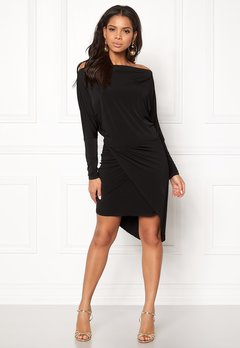 John Zack Off Shoulder Dress Black Bubbleroom.dk