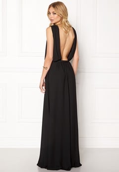 John Zack Open Back Maxi Dress Black Bubbleroom.dk