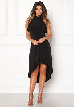 John Zack Sleeveless High Low Dress Black Bubbleroom.dk