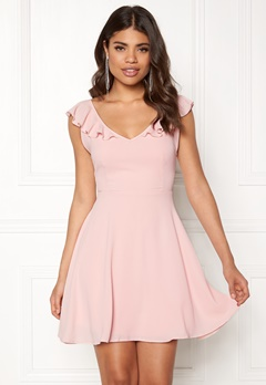 John Zack The Back Frill Dress Blush Bubbleroom.dk