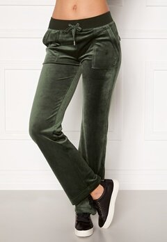 Juicy Couture Del Ray Classic Velour Pant Dark Moss Bubbleroom.dk