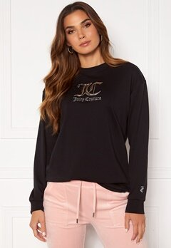 Juicy Couture June L/S Boyfriend T-Shirt Black Bubbleroom.dk