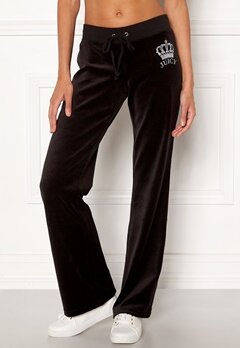 Juicy Couture Luxe Juicy Crown Pant Pitch Black Bubbleroom.dk