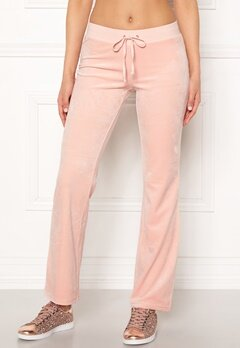 Juicy Couture Luxe Velour Del Rey Pant Pink Shadow Bubbleroom.dk