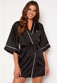 Juicy Couture Peggy Satin Kimono Black Bubbleroom.dk