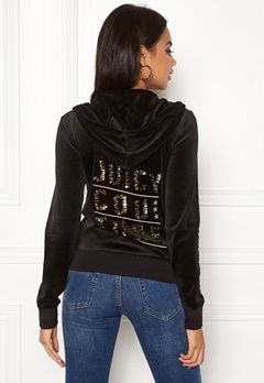 Juicy Couture Stack Velour Robertson Jacket Pitch Black Bubbleroom.dk