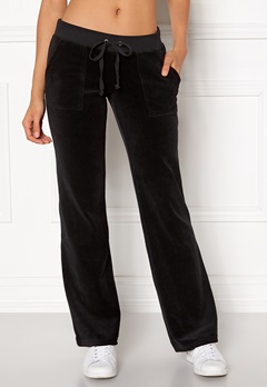 Juicy Couture Velour Del Rey Pant Pitch Black Bubbleroom.dk