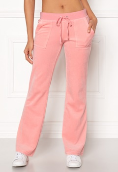 Juicy Couture Velour Del Rey Pant Sorbet Pink Bubbleroom.dk