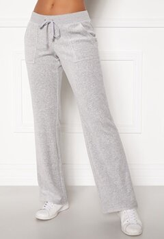 Juicy Couture Velour On Going Pant Silver Lining Bubbleroom.dk