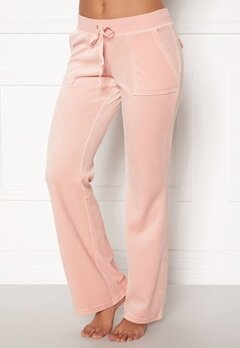 Juicy Couture Velour On Going Pant Silver Pink Bubbleroom.dk