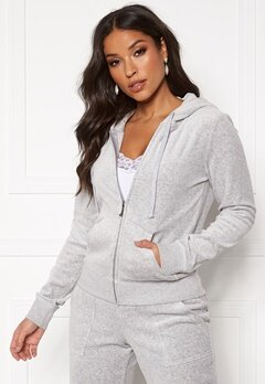 Juicy Couture Velour Track On Going Jkt Silver Lining Bubbleroom.dk