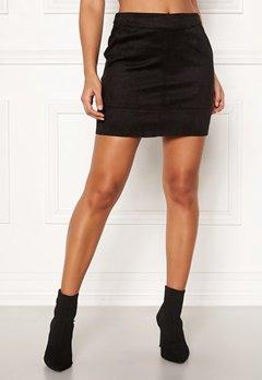 ONLY Julie Fauxsuede Skirt Black Bubbleroom.dk