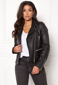 JOFAMA Kajta Leather Jacket 00 Black Bubbleroom.dk