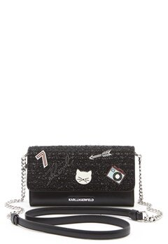 Karl Lagerfeld Classic Wallet On Chain Black Bubbleroom.dk