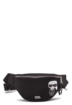 Karl Lagerfeld Iconic Nylon Bumbag 999 Black Bubbleroom.dk