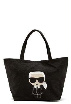 Karl Lagerfeld Ikonik Karl Canvas Tote A999 Black Bubbleroom.dk