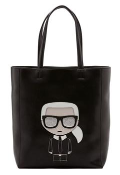 Karl Lagerfeld Ikonik Soft Tote Black/Nickel Bubbleroom.dk
