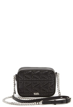 Karl Lagerfeld Quilted Stud Camera Bag Black/Nickel Bubbleroom.dk