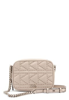 Karl Lagerfeld Quilted Stud Camera Bag Taupe Bubbleroom.dk