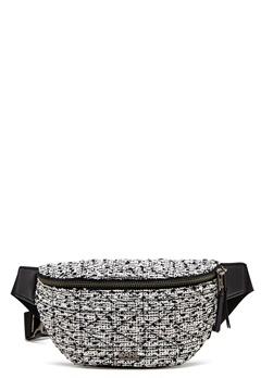 Karl Lagerfeld Quilted Tweed Bumbag Black/White Bubbleroom.dk